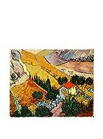 Legendarte Lienzo Paesaggio Con Casa E Aratore di Vincent Van Gogh