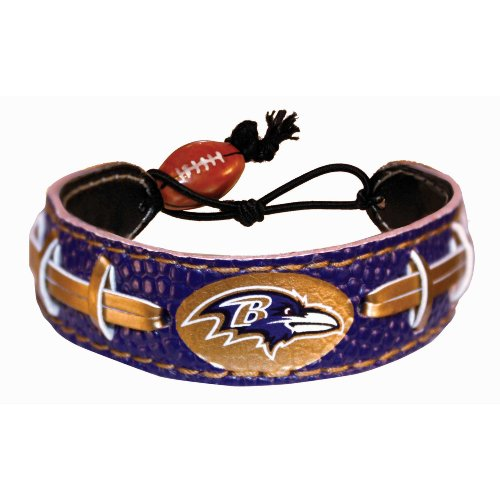Baltimore Ravens Team Color NFL Football Bracelet