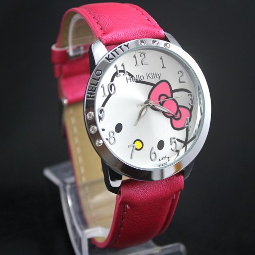 Montre Hello Kitty argentée Rose