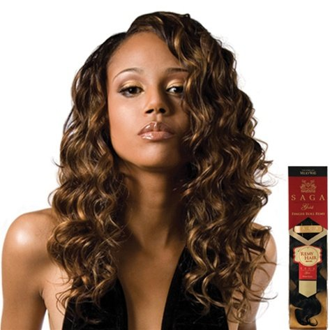 MilkyWay Saga Gold Remy 100% Human Hair Weave - Finger Roll 14