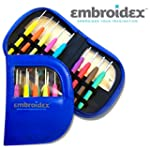 Embroidex 9 Pc Ergonomic Crochet Hook...