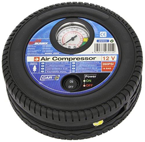 Sumex 2707015 Carplus - Compressore Aria Con Manometro, 260 Psi