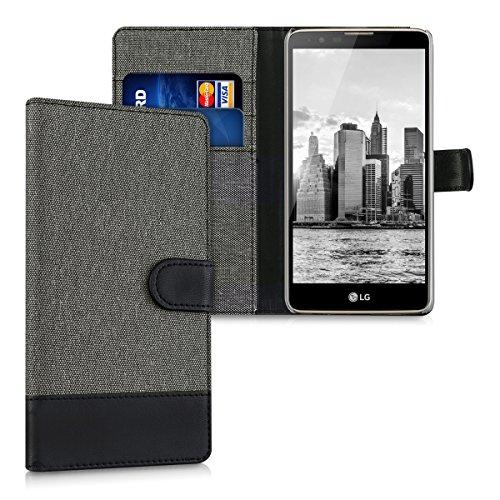 kwmobile-wallet-case-canvas-hulle-fur-lg-stylus-2-flip-tasche-mit-kartenfach-und-stander-in-grau-sch