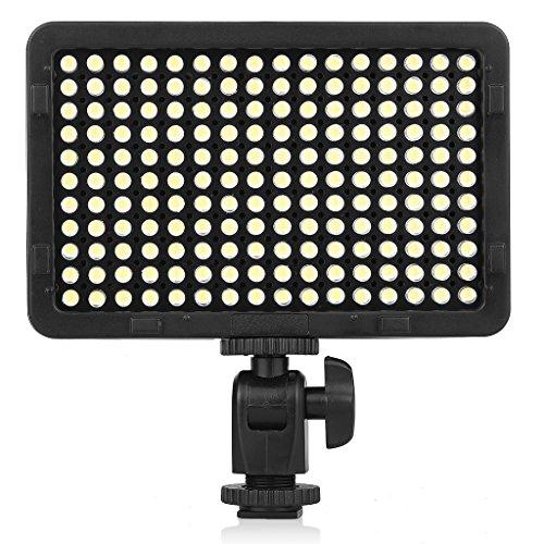 Craphy PT-176撮影ライト 定常光ライト LED ビデオライト 176球LED 3200-5600K(調節可能) 1320Lux 2つのカラーフィルタ付け Canon、Nikon、Sigma Olympus、Pentaxなどのカメラ&ビデオカメラに対応 日本語説明書付け