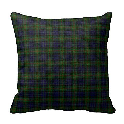 romantichouse-cotton-linen-square-decorative-stylish-clan-gunn-tartan-plaid-pillowcase