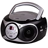 Trevi CD 512 portable Boombox mit Stereo-CD-Radio MP3-Player kompakt  schwarz