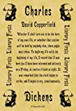 A4 Size Parchment Poster Literary First Lines Charles Dickens David Copperfield