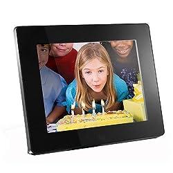 Aluratek ADMPF108F 8-inch Hi-Res Digital Photo Frame With 512MB Built in Memory (Black)