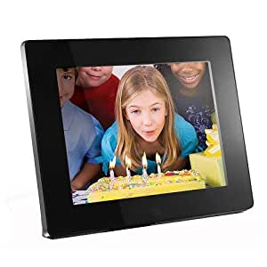 Aluratek ADMPF108F 8-inch Hi-Res Digital Photo Frame With 512MB Built in Memory (Black)