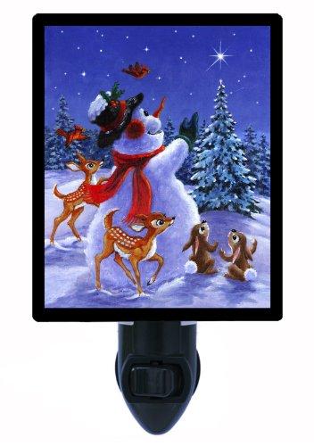 Christmas Night Light - Star Of Wonder Snowman - Led Night Light