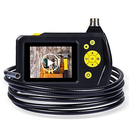 DBPOWER-27-Inch-Color-LCD-Screen-Endoscope-Inspection-Snake-Camera-with-3M-Tube-Function-of-Zoom-360-Degree-Rotation-and-DVR-Digital-Video-Recording