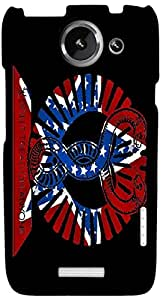 Timpax protective Armor Hard Bumper Back Case Cover. Multicolor printed on 3 Dimensional case with latest & finest graphic design art. Compatible with HTC one X+ ( Plus ) Design No : TDZ-24113