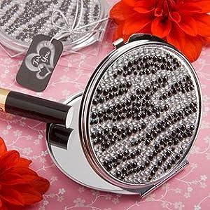 Zebra Print Classy Compact Mirror Wedding Favors, 96