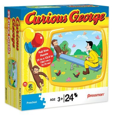 Curious GeorgeTM in See Saw 24 pc Puzzle 10761 - 1