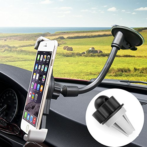 Car Mount, CARPRO (TM) 3-in-1 Universal Smartphones Windshield Phone Holder Air Vent Mount Cell Phone Car Holder Cradle for iPhone SE 6s 6 Plus 6 5s 5 4s 4 LG Nexus and More