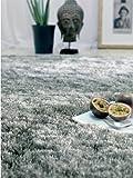 benuta Teppiche: Shaggy Langflor Hochflor Teppich Whisper Grau 120×170 cm – schadstofffrei – 100% Polyester – Uni – Handgetufted – Wohnzimmer