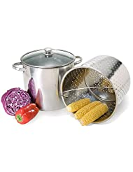 20 Qt Jumbo Multi Stock Pot Steamer Cooker 3pc. Set by Home+Select