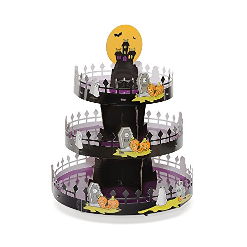 Sweet Creations 04842 Halloween Cupcake Stand, Corrugated, Black