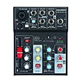 Aokeo Sound Card Audio Mixer, USB Audio Interface, 48V Phantom Power Supply For Condenser Mic - Record On The Computer/Laptop/Macbook/Etc. (Mixer - 6) (Color: Mixer-6)