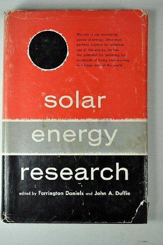 Solar Energy Research: 1953 Symposium