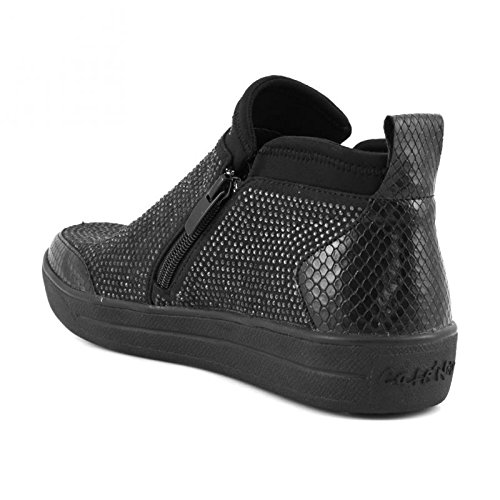 CAFè NOIR sneakers slip on donna zip TESSUTO MULTI NERO NDB926 39