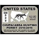 Chupacabra Hunting Permit - UNITED STATES (Bumper Sticker)