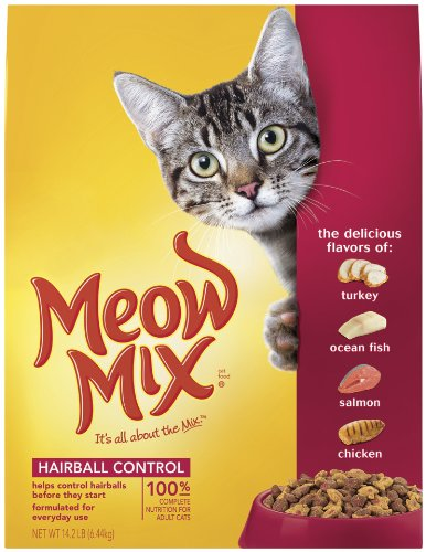 Image of Meow Mix Hairball Control Dry Cat Food, 14.2-Pound