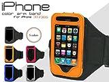 ブルー■iPhone3GS/3G用アームバンド■ウォーキングやエクササイズに