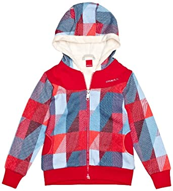 O'Neill - Sweat-shirt à Capuche - Fille - Multicolore (Red All Over Print 5) - FR : 6 ans (Taille fabricant : 6 years)