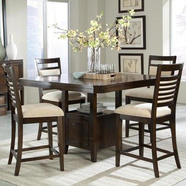 Standard Furniture Avion 5 Piece Counter Dining Room Set in Cherry