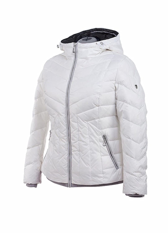 M105 VLASTA Snowimage Plus SIZE Damen Daunenjacke Sportjacke Outdoor Comfort Größen Farbe: weiß