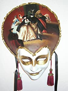 Oil Painted/ Hand Painted Venetian Mask