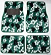 - 	 Green Hawaiian Hibiscus Carpet Front & Rear Car Truck Floor Mats