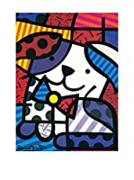 Artopweb Panel Decorativo Britto Ginger 80x60 cm Bordo Nero