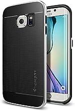 Galaxy S6 Edge Case, Spigen [CURVED BUMPER] Neo Hybrid Series Case for Samsung Galaxy S6 Edge - Satin Silver (SGP11420)