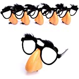 Dazzling Toys Nose, Eyebrows & Mustache Glasses - Pack of 6 Sets