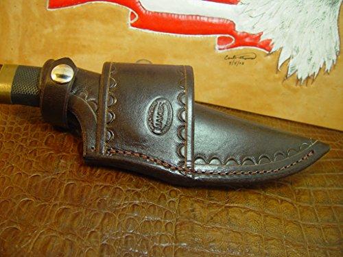 Custom cross draw knife sheath for the buck Vanguard are zipper knife. (Buck Custom Knives compare prices)
