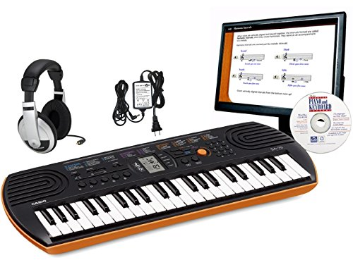 Casio Sa76 Edp Personal Keyboard Package With Closed-Cup Headphones, Power Supply And Instructional Software