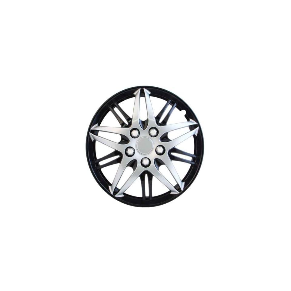 Pilot Automotive WH544 15C BLK Formula Performance Series Silver 15 Wheel Cover with Black Chrome, (Set of 4)
