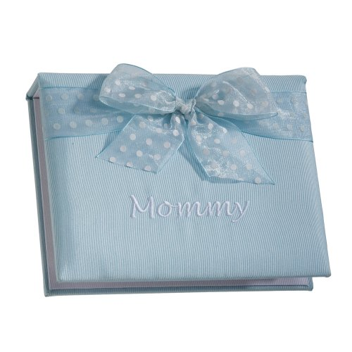Elegant Baby Mommy Brag Book - Blue Moire