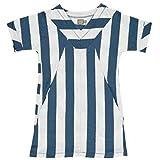 Un vestido de tres relojes de arena de org�nicas de dise�o de rayas de equipo azul Talla:2 Year