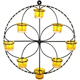 Good Living Metal Tealight Candle Holder ( Inch X 17 Inch X 17 Inch, Black)