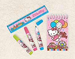Amscan Adorable Hello Kitty Stationery Set Birthday Party Favors (5 Pack), 3\