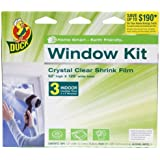Duck Brand 281066 Indoor 3-Window Shrink Film Insulator Kit, 62-by-126-Inch