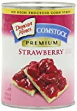 Comstock Premium Fruit Strawberry Pie Filling and Topping, 21-Ounce (Pack of 4)