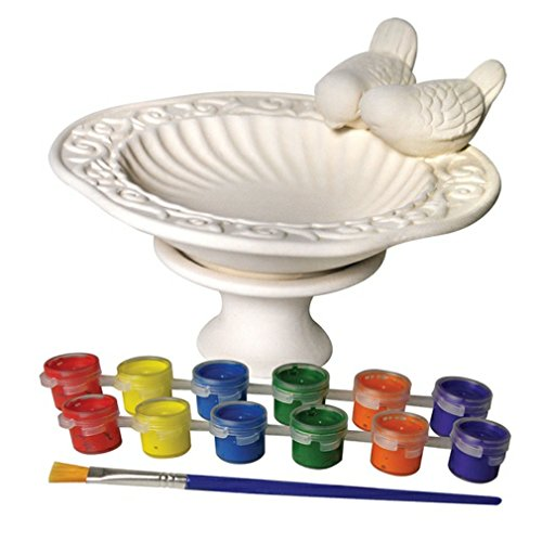 Sassafras My Little Garden Paint Your Own Ceramic Bird Bath Paint Kit Home D
