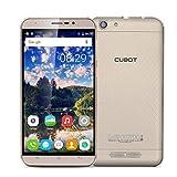"Cubot Dinosaur - Smartphone libre 4G Lte Android 6.0 (Pantalla 5.5"", Cámara 8.0Mp, 16GB ROM, 3GB RAM, Quad-Core 1.3GHz, Batería de 4150mAh, WiFi, Bluetooth), Dorado"