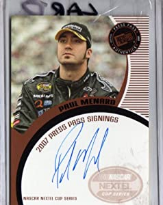 Buy 2007 Press Pass Autographs Paul Menard Bronze Nascar by Press Pass