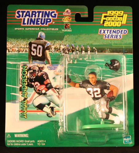 JAMAL ANDERSON / ATLANTA FALCONS 1999-2000 NFL * EXTENDED SERIES * Starting Lineup Action Figure & Exclusive NFL Collector Trading Card