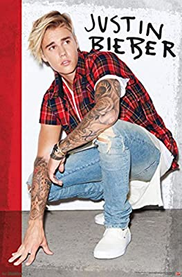 Justin Bieber- Flannel Poster 22 x 34in